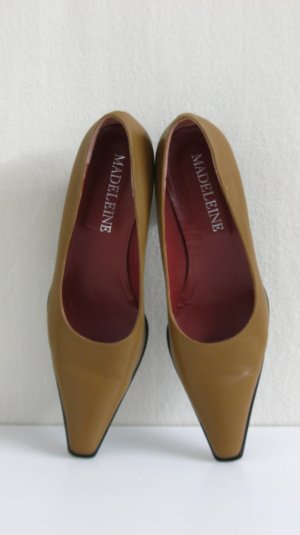 100% Leder Pumps, camel