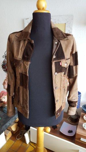 100 % Levi's Levis Patchwork Lederjacke Leder Used Style RAR