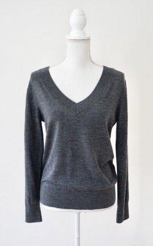 H&M Wool Sweater dark grey merino wool
