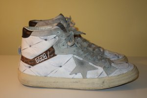 100% org. GOLDEN GOOSE 2.12 Hightop Sneaker in weiß vintage Look Gr.38