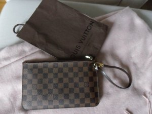 100% org. Louis Vuitton Pochette Clutch Damier Ebene f. Neverfull Top Zustand!