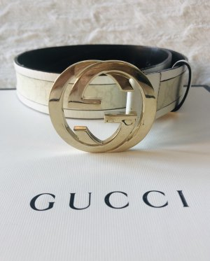 Gucci Cintura di pelle crema