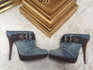 Gianmarco Lorenzi Heel Pantolettes steel blue-cornflower blue