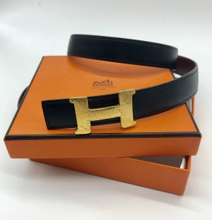 100% orig. Hermès /  Hermes H Gürtel - 80 cm