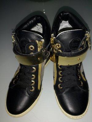 Baldinini Sneaker con tacco nero-argento