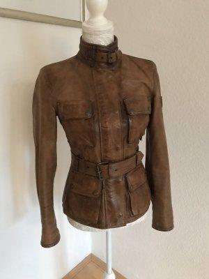 Belstaff Leather Jacket light brown-cognac-coloured