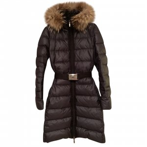 100% Original Damen Moncler Daunenmantel Daunenjacke S 36 2 Schwarz Winter Mantel Jacke