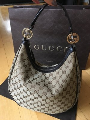 Gucci Bolsa Hobo color bronce-beige