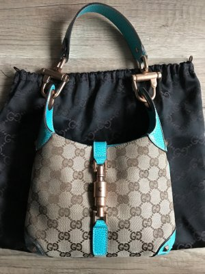 Gucci Handbag light blue-oatmeal leather