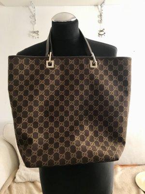 100 % original Gucci Tasche Shopper Guccissima aus Canvas und Leder