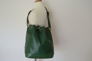 Louis Vuitton Pouch Bag forest green leather