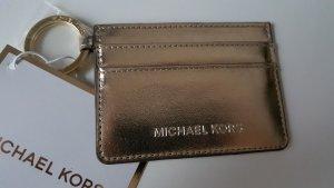 100% Original MICHAEL KORS Karten Etui Card Holder gold ** NEU TOP