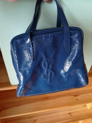 100% Original Yves Saint Laurent Baby Monogram Tasche blau Bowlingbag