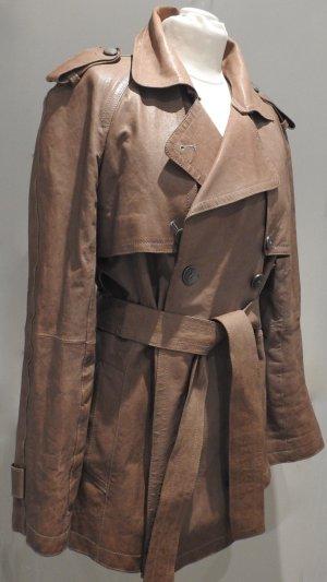 Dolce & Gabbana Leather Blazer brown leather