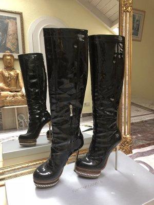 Gianmarco Lorenzi Platform Boots black-light grey leather
