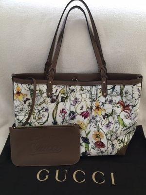 100% Originale GUCCI Flora Handtasche, Tasche mit Blumenmuster