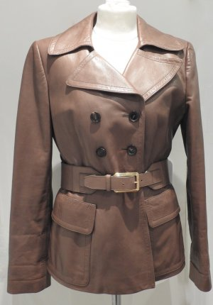 Gucci Leather Jacket brown leather