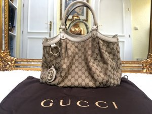 100% Originale GUCCI Sukey Medium GG Canvas Tote Bag Tasche