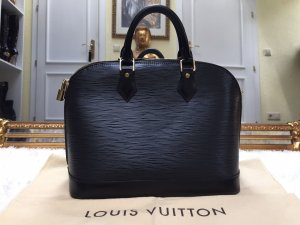 100% Originale Louis Vuitton ALMA EPI (PM) Handtasche in Schwarz