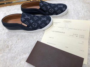 100% Originale Louis Vuitton Denim/Jeans Schuhe in Gr. 39,5, 461136 Tempo SN