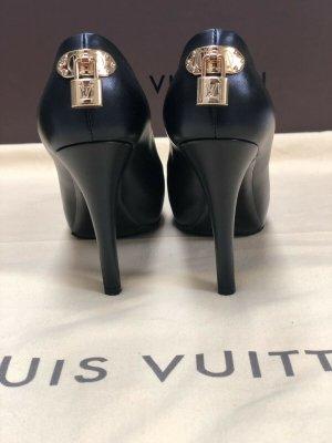 100% Originale Louis Vuitton Lock Pumps, Schuhe in Gr. 38 in Farbe Schwarz