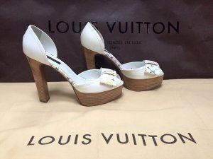 100% Originale Louis Vuitton Pumps in Gr. 37,5 in Farbe Multicolor Weiss