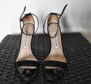 100% Originale Manolo Blank Schuhe Pumps Sandalen Gr. 37 1/2 Blitzversand!