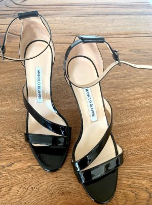 100% Originale Manolo Blank Schuhe Pumps Sandalen Gr. 37 Hand made