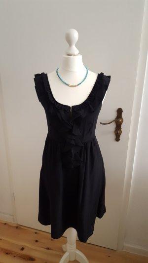 Galeries lafayette Vestido estilo flounce negro Seda