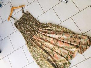 100% Seide Overall Harem Kleid im Bohemian Stil Unikat Größe L neu
