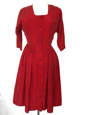 100% Seide rotes Sommerkleid