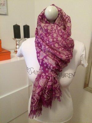 Zijden sjaal lila-stoffig roze