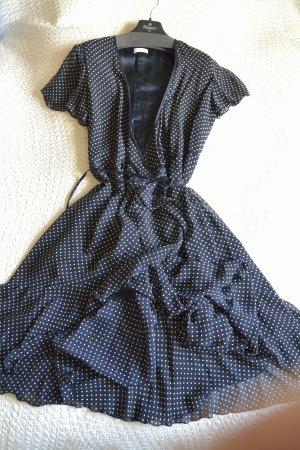 Elégance Paris Wraparound white-black silk