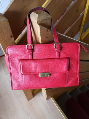 Tommy Hilfiger Carry Bag red leather