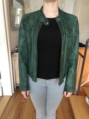 100% waldgrüne Lederjacke von Gipsy