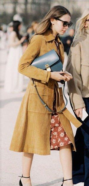 H&M Premium Leather Coat multicolored leather
