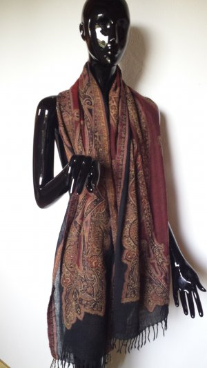 Fringed Scarf multicolored wool