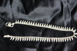 Anklet silver-colored real silver