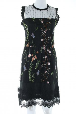 101 Idees A Line Dress black flower pattern elegant