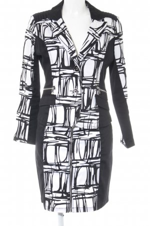 101 Idees Ladies' Suit black-white abstract pattern business style