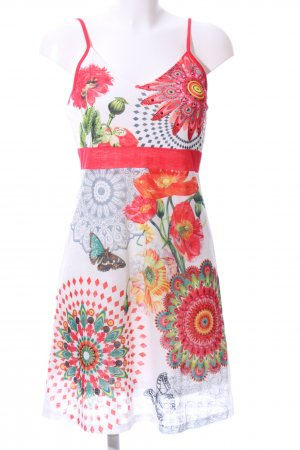 101 Idees Pinafore dress allover print casual look