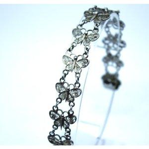 1042 Silber 800 filigranes Schmetterlingsarmband