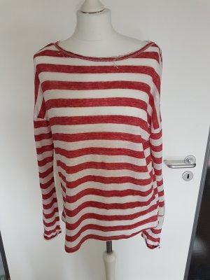 10 Days Camisa de rayas blanco-rojo ladrillo