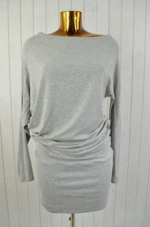 10Days Damen Kleid Drop Shoulder Dress Hellgrau Jersey Langarm Gr.2/38 Neu!