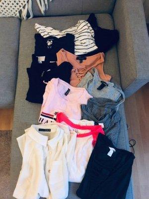 11 Shirts Tops Primark H&M Hollister schwarz weiß grau rosa