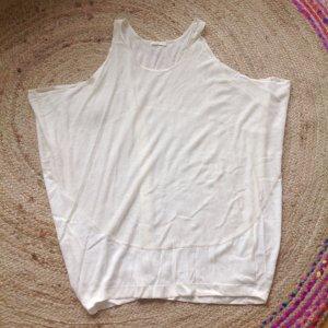 119€ COS Seide Leinen Kleid Oversized Creme Beige Nude Longshirt L 38 40 42 44