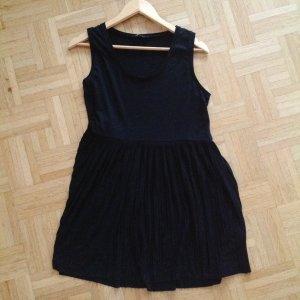 119€ Marc Aurel Kleid Schwarz Plissee Longshirt Minikleid Maje Sandro Vince M L