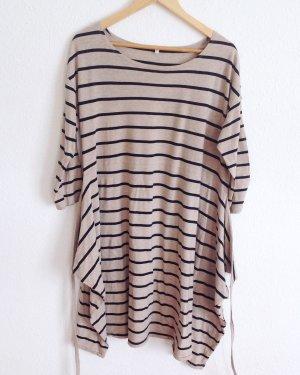 119€ Muji Japan Kimono Longshirt Tunika Shirt Kleid Geringelt Baumwolle Seide L
