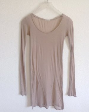 119€ Zartes American Vintage Longshirt Tan Nude Shirt Yoga Lagenlook Öko Bio M