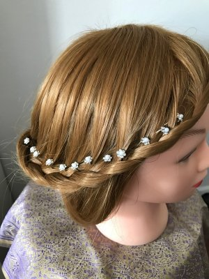 Hair Clip silver-colored-white